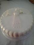 Bolo Batizado - Pomba Branca